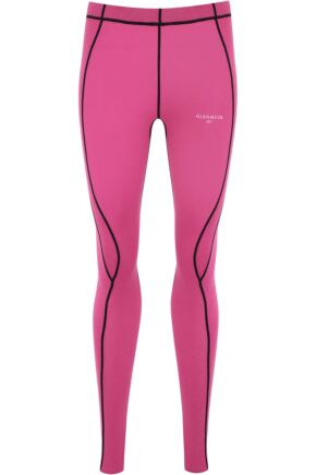 Ladies 1 Pack Glenmuir Compression Base Layer Leggings Pink 8-10 Ladies