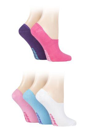 Ladies 5 Pair Dare to Wear No Show Socks