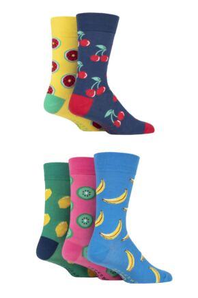 Mens 5 Pair SOCKSHOP Dare to Wear Patterned Socks