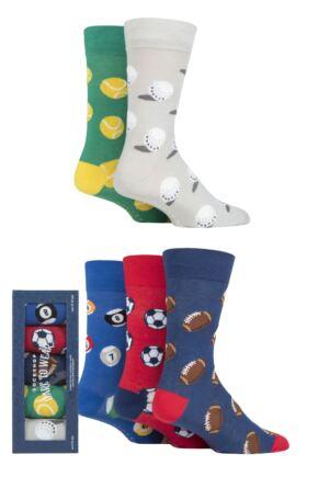 Mens 5 Pair SOCKSHOP Dare to Wear Patterned Gift Boxed Socks