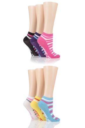 Ladies 6 Pair SOCKSHOP Dare to Wear Patterned Trainer Socks