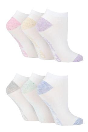 Ladies 6 Pair Dare to Wear Performance Trainer Socks