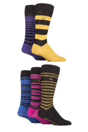 Mens 5 Pair Dare To Wear Striped Bamboo Socks