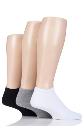Mens 3 Pair Glenmuir Bamboo Trainer Socks