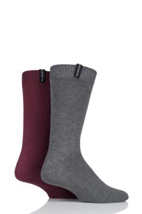 Mens 2 Pair Glenmuir Lightweight Bamboo Boot Socks Light Grey 7-11 Mens
