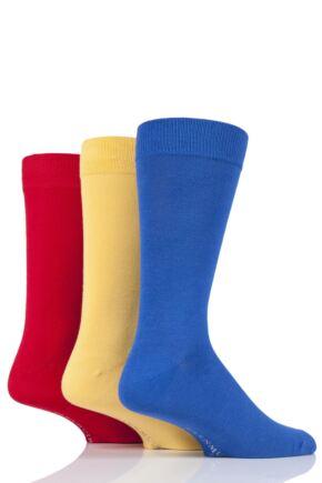 Mens 3 Pair Glenmuir Classic Bamboo Plain Socks