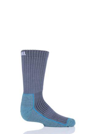 UpHill Sport 1 Pair Kids Made in Finland Hiking Socks Grey 2.5-3.5 Kids (9-12 Years)