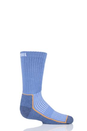 UpHill Sport 1 Pair Kids Made in Finland Hiking Socks Light Blue 2.5-3.5 Kids (9-12 Years)