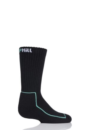 UpHill Sport 1 Pair Kids Made in Finland Hiking Socks Black 12-2 Kids (7-10 Years)