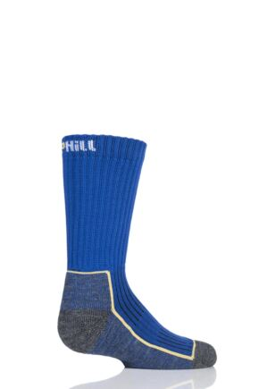 UpHill Sport 1 Pair Kids Made in Finland Hiking Socks Blue 9-11.5 Kids (5-8 Years)
