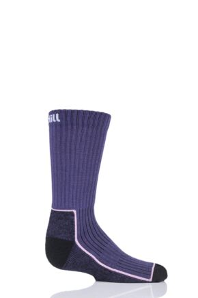 UpHill Sport 1 Pair Kids Made in Finland Hiking Socks Purple 2.5-3.5 Kids (9-12 Years)