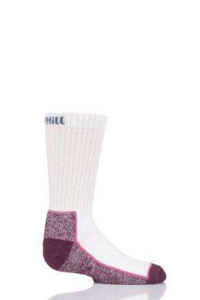 UpHill Sport 1 Pair Kids Made in Finland Hiking Socks White 2.5-3.5 Kids (9-12 Years)