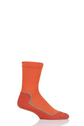 "Boys and Girls 1 Pair UpHillSport  ""Kevo"" Jr Trekking 4 Layer M4 Socks Orange 12-2 Kids (7-10 Years)"