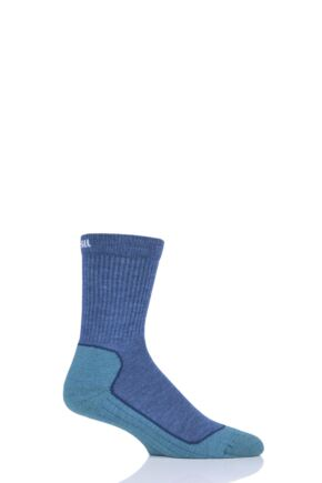 "Boys and Girls 1 Pair UpHill Sport  ""Kevo"" Jr Trekking 4 Layer M4 Socks Blue 12-2 Kids (7-10 Years)"