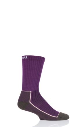 UpHill Sport 1 Pair Made in Finland Hiking Socks Purple / Brown 5.5-8 Unisex
