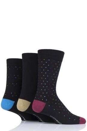 Mens 3 Pair Glenmuir Pin Dot Bamboo Socks