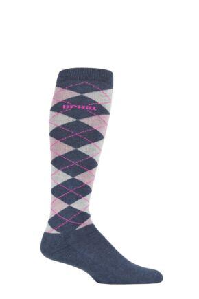 UpHillSport 1 Pair Organic Cotton Argyle Equestrian Socks