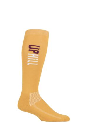 UpHillSport 1 Pair Organic Cotton Equestrian Socks Yellow 8.5-11 Unisex