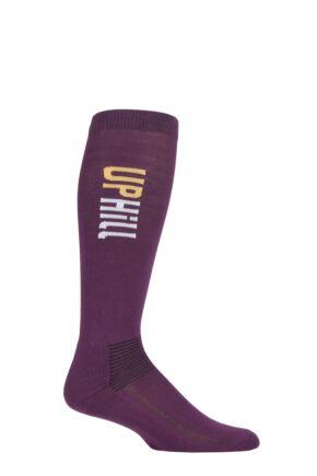 UpHillSport 1 Pair Organic Cotton Equestrian Socks Purple 12-2.5 Kids