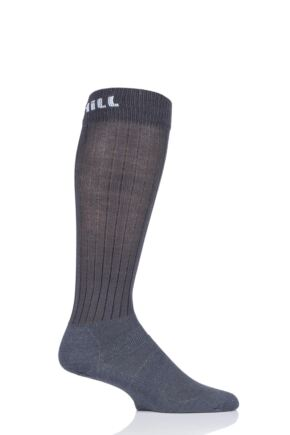 Mens and Ladies 1 Pair UpHill Sport  Summer Course 3 Layer L2 Socks Mid Grey 3-5 Unisex