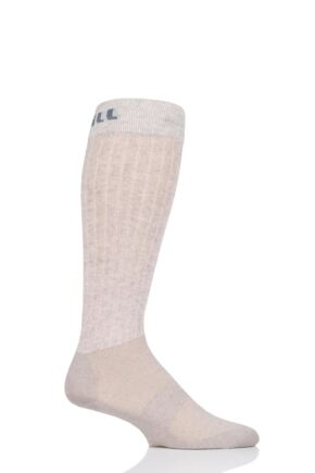 """Mens and Ladies 1 Pair UpHillSport  """"Winter Course"""" 3 Layer L3 Horse Riding Socks Natural 5.5-8 Unisex"""