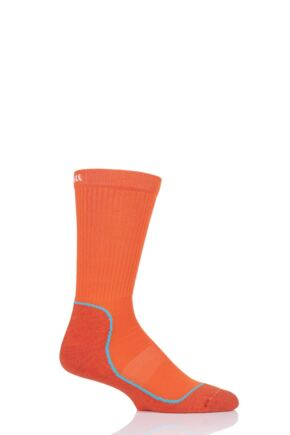 UpHill Sport 1 Pair Made in Finland 4 Layer Hiking Socks with DryTech Orange 5.5-8 Unisex