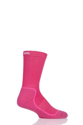 UpHill Sport 1 Pair Made in Finland 4 Layer Hiking Socks with DryTech Pink 3-5 Unisex