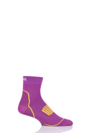Mens and Ladies 1 Pair UpHill Sport Front Running L1 Socks Purple 3-5 Unisex