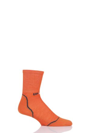 "Mens and Ladies 1 Pair UpHillSport  ""Ruija"" Hiking L2 Socks Orange 8.5-11 Unisex"