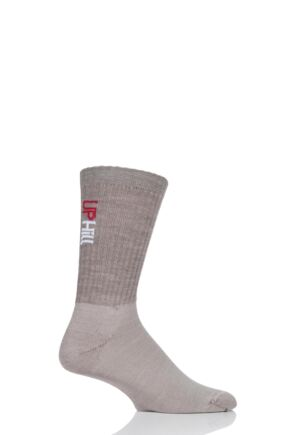 UpHill Sport 1 Pair Made in Finland 3 Layer Sports Socks Beige 5.5-8 Unisex
