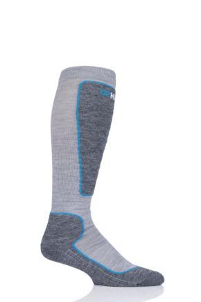 "Mens and Ladies 1 Pair UpHillSport ""Valta"" Alpine Ski 4 Layer M5 Socks Grey 8.5-11 Unisex"