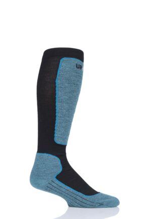 "Mens and Ladies 1 Pair UpHillSport ""Valta"" Alpine Ski 4 Layer M5 Socks Black 5.5-8 Unisex"