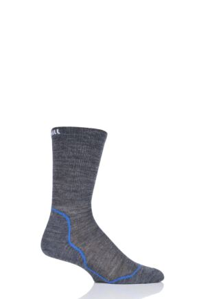 UpHill Sport 1 Pair Dual Layer Cycling Socks Dark Grey 3-5 Unisex