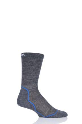 UpHill Sport 1 Pair Dual Layer Cycling Socks Dark Grey 8.5-11 Unisex