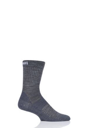 UpHill Sport 1 Pair 3 Layer Golf Socks Grey 3-5 Unisex