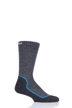 """Mens and Ladies 1 Pair UpHill Sport """"Suomu"""" Mountain 4 Layer H5 Socks Dark Grey 3-5 Unisex"""