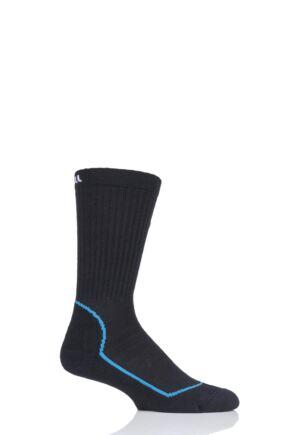 "Mens and Ladies 1 Pair UpHill Sport ""Suomu"" Mountain 4 Layer H5 Socks Black 3-5 Unisex"