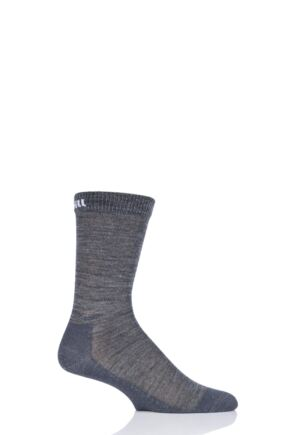 "Mens and Ladies 1 Pair UpHill Sport ""Teijo"" Hiking 3 Layer L3 Socks Grey 5.5-8 Unisex"