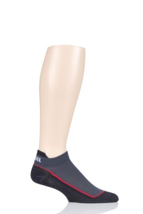 "Mens and Ladies 1 Pair UpHill Sport ""Bermuda"" Golf Low 3 Layer L2 Socks Black 8.5-11 Unisex"