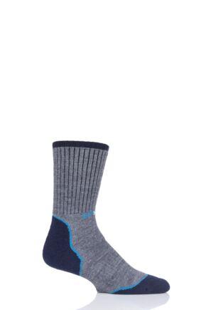 "Mens and Ladies 1 Pair UpHill Sport ""Salla"" XC Skiing M4 Socks Grey 5.5-8 Unisex"