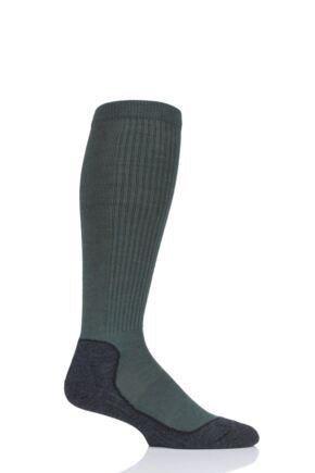 "Mens and Ladies 1 Pair UpHillSport  ""Aarea"" Hunting 4 Layer H4 Socks Green 3-5 Unisex"