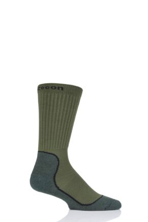 "Mens and Ladies 1 Pair UpHill Sport ""Recon"" Tactical 4-Layer M5 Socks Green 3-5 Unisex"