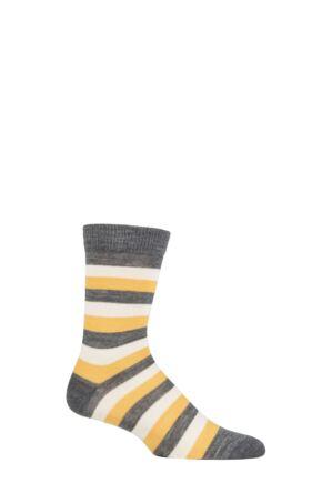 UphillSport 1 Pair Aito Merino Everyday Comfort Socks Grey / Yellow / White 8-11 Unisex