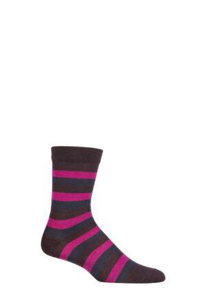 UphillSport 1 Pair Aito Merino Everyday Comfort Socks Grey / Lilac / Brown 3-5 Unisex