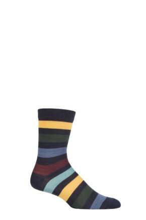 UphillSport 1 Pair Kuru Merino Everyday Comfort Socks Navy / Yellow 3-5 Unisex