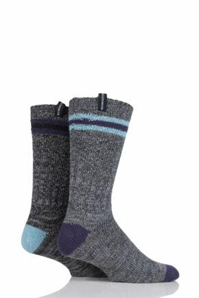 Mens 2 Pair Glenmuir Marl Mix Boot Socks