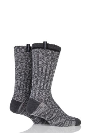 Mens 2 Pair Glenmuir Wool Blend Plain Marl Boot Socks