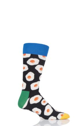 Mens and Ladies 1 Pair Happy Socks Sunny Side Up Combed Cotton Socks