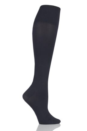Ladies 1 Pair Elbeo Caresse Active Firm Support 60 Denier Opaque Knee Highs