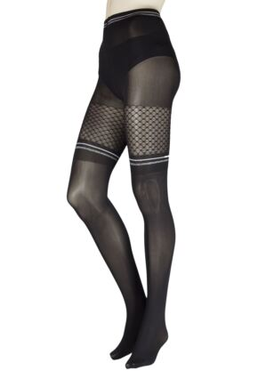Ladies 1 Pair Trasparenze Elfo Mock Over the Knee Tights
